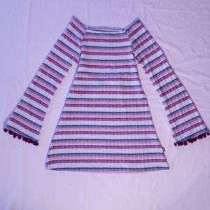 🔥2/$15 Dollie &Me Girls Striped Dress w/ Pom poms